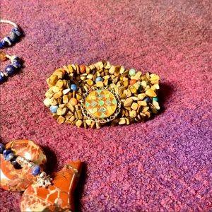 Vintage Carolyn Pollack agate stretch bracelet